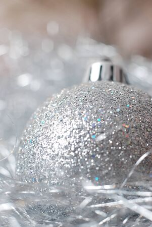 Silver bauble Stock Photo - 9986435