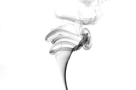 white clouds: Black smoke on a white background