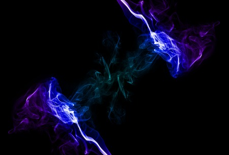 notional: Colorful smoke electric theme on black buckground
