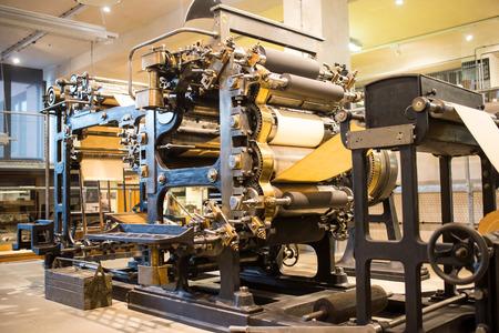 Great nice big retro vintage press machine 版權商用圖片