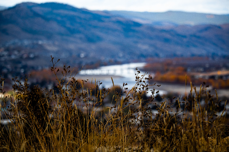 A nice blurred view the hills of desert city