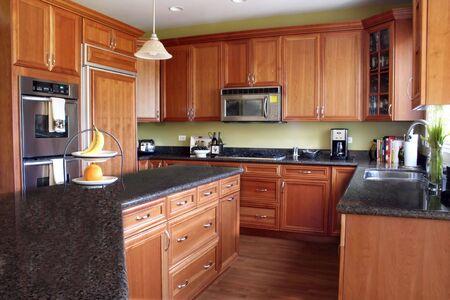 Modern Kitchen in Warm Tones Stock Photo - 2514466