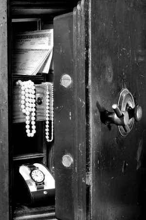 valuables: Old Safe with Valuables