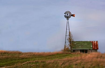 Old Barn and Windmill photo
