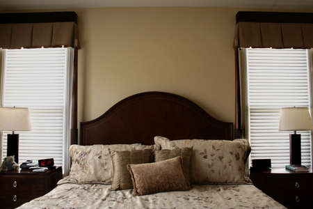 Luxurious Bed in Warm Tones