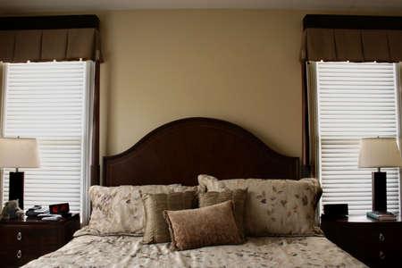 Luxurious Bed in Warm Tones