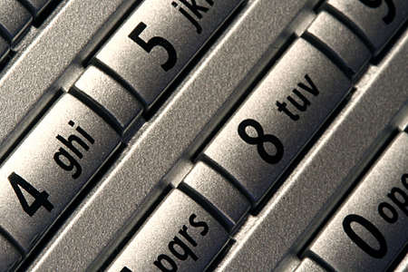 dial pad: Close up of telephone number keypad