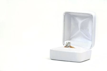 Diamond Ring in White Box