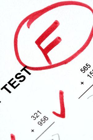 Mislukt Math Test Stockfoto