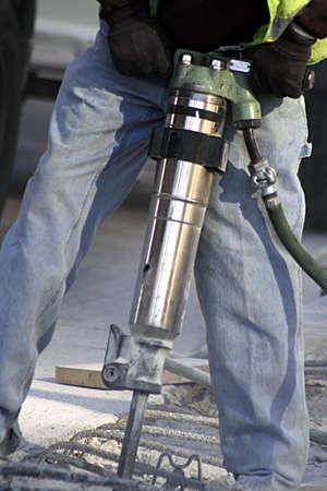 presslufthammer: Bauarbeiter mit Jack Hammer  Lizenzfreie Bilder