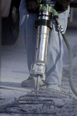 presslufthammer: Bau Arbeiten mit Jack Hammer