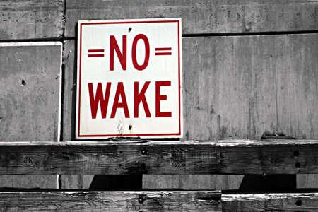 No Wake Sign Banco de Imagens