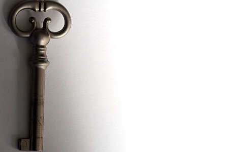 shiny black: Skeleton Key Stock Photo