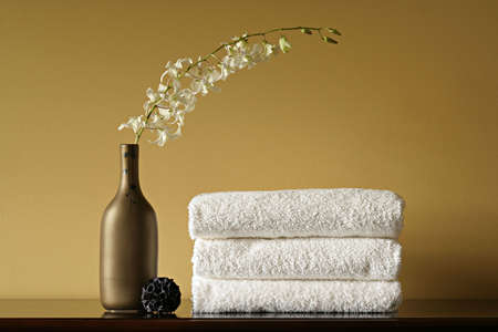 spa towels: Spa Towels with Flowers