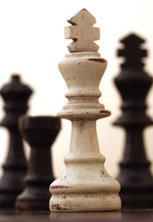 White Chess Piece against White