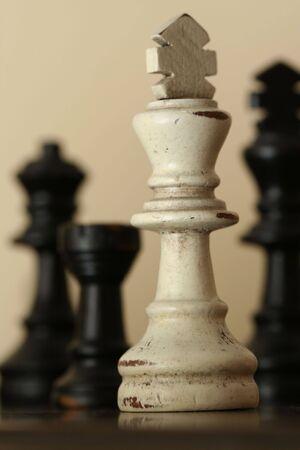 White Chess Piece Sepia