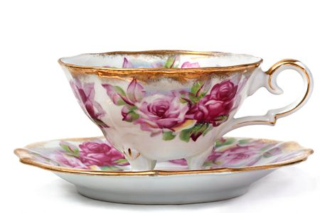 china art: Antique Teacup and Saucer