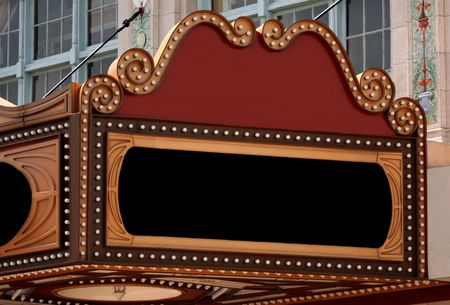 theater sign: Blank Marquee Sign Stock Photo