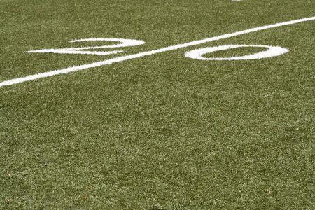 yardline: 20 yard line of an American football field Stock Photo