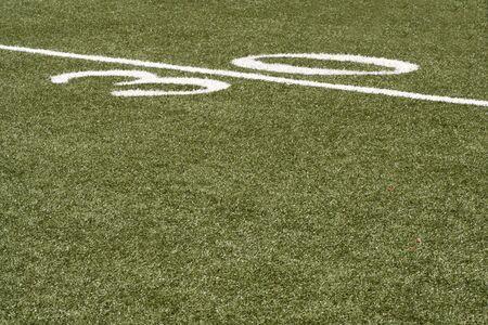 yardline: 30 yard line of an American football field