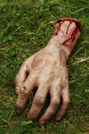 gory: Falso mani con il sangue