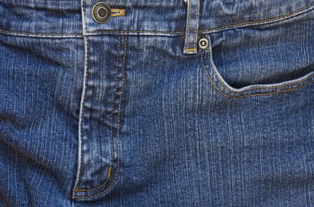 Blue Jeans Zipper and Pocket Imagens