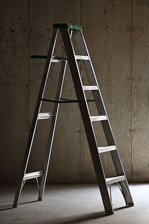 Step Ladder in Basement Stock Photo - 4454387