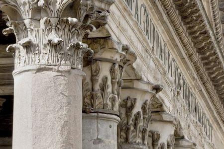 Les colonnes du Panthéon, Rome, Italie Banque d'images - 4689691