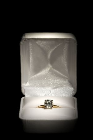 Diamond Ring in White Box