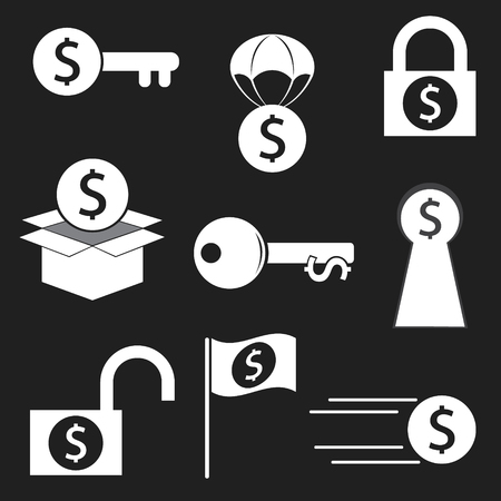 Finance icon key of money concept. vector illustration.