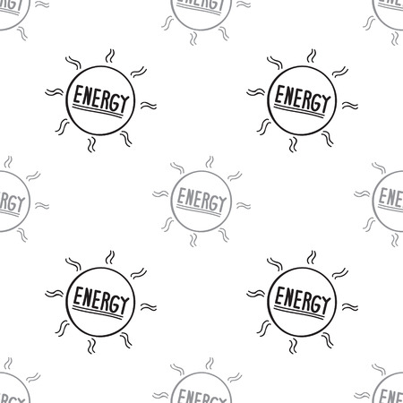 Clean energy from the sun is sustainable. Seamless background. Vector illustration doodle hand drawing.