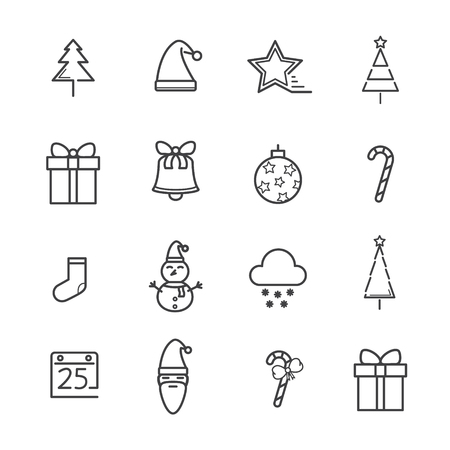 Christmas line icon concept. Editable Stroke. vector illustration.