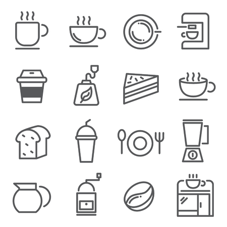 Line icon of coffee shop menu