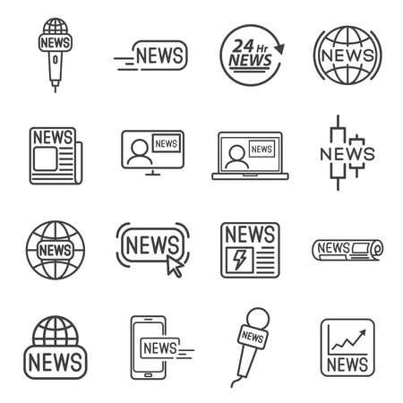 News line icon concept vector illustration.