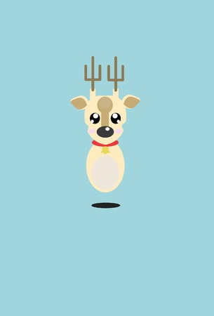 chrismas: Reindeer chrismas Illustration