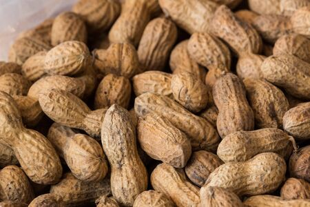close up of peanuts with shell