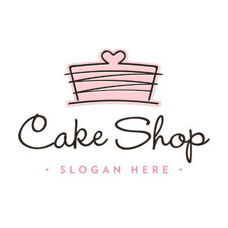 Modello logo pasticceria cupcakes Cup