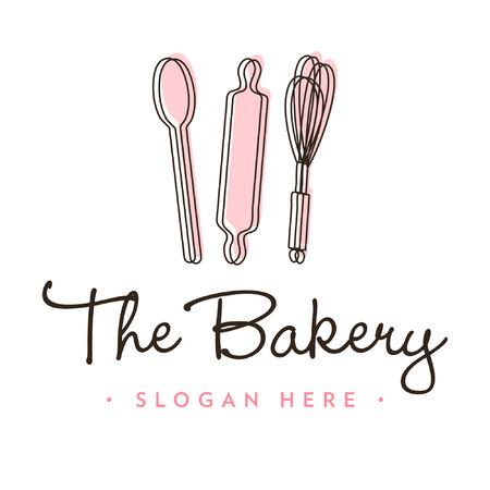 Bakery Logo Icon Template 矢量图像