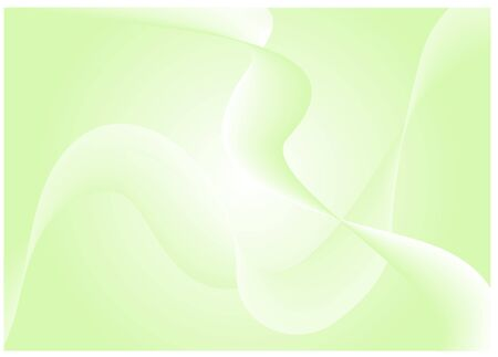abstract smooth light green waves  Vector