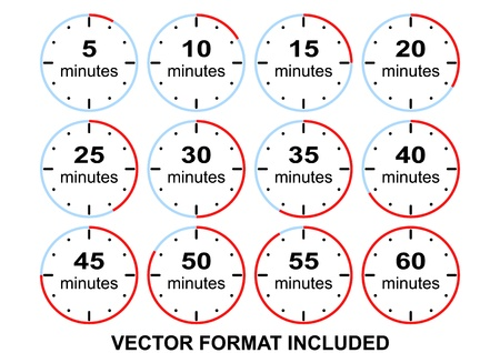 presets time limits with step five minutes Stock Vector - 19351031