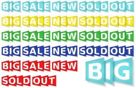 eshop: eshop messages, five colours set Illustration