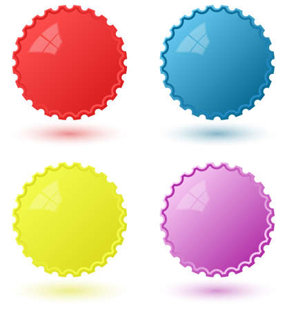 circural icons templates four colours included - red, blue, yellow, purple