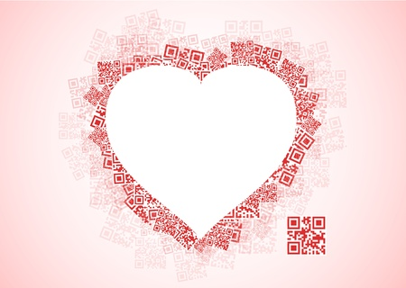 real love message  I LOVE YOU  in qr code