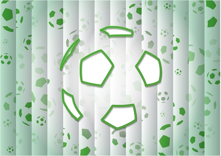 offside: abstract green soccer ball background