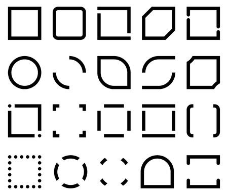 templates for icon frame  set of 20 variants Ilustração