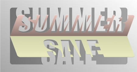 Summer Sale - Information Message For Customers  Pseudo 3D Cutout And Folded Paper Sheet
