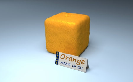 Orange Cube Made In EU  Example Of Stupid And Useless EU Regulations