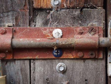 wood spider: Rustic door lock