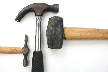 Un grupo de martillos con diferentes usos. Foto de archivo - 3528165