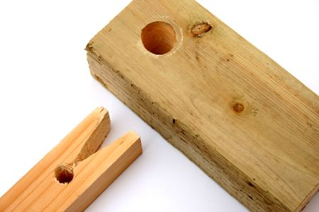 square peg and round hole. Stock Photo - 5886603